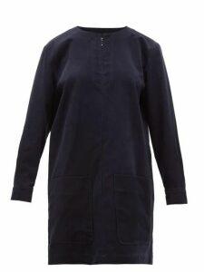 A.p.c. - Andrea Cotton Blend Corduroy Mini Dress - Womens - Navy