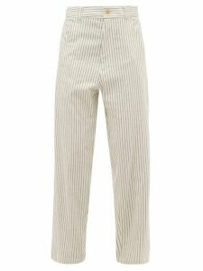 Haider Ackermann - Chanda Striped Cotton Trousers - Womens - White Multi