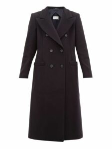 Maison Margiela - Double Breasted Wool Blend Coat - Womens - Navy