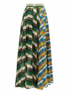 A.w.a.k.e. Mode - Duncan Pleated Tartan Cotton Skirt - Womens - Multi
