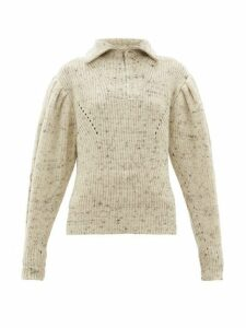Isabel Marant - Kuma Puff Sleeve Wool Jumper - Womens - Ivory