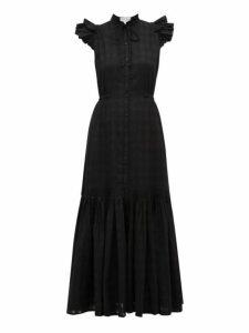 Apiece Apart - Pacifica Check Jacquard Cotton Maxi Dress - Womens - Black