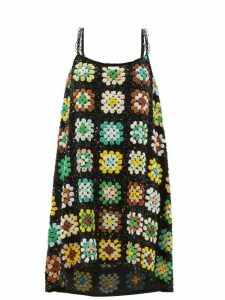 Ashish - Relaxed Sequinned Slip Dress - Womens - Green Multi