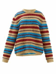 Ashish - Oversized Sequinned Sparkle Knit Sweater - Womens - Brown Multi
