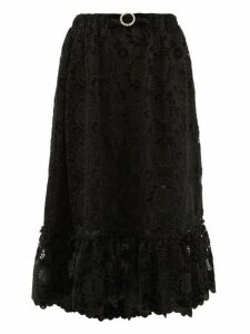 Shrimps - Pearl Floral Guipure Lace Skirt - Womens - Black