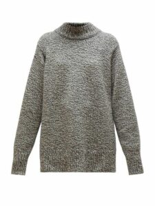 The Row - Edmund Mock Neck Cashmere Sweater - Womens - Grey Multi