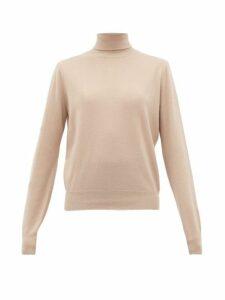 The Row - Seiler Funnel Neck Cashmere Blend Sweater - Womens - Beige