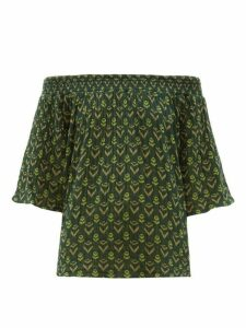 Ace & Jig - Marisol Bardot Cotton Jacquard Top - Womens - Green Multi