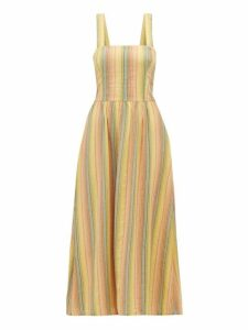 Ace & Jig - Willa Striped Crossover Back Cotton Dress - Womens - Multi