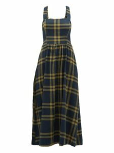 Ace & Jig - Willa Crossed Back Checked Cotton Dress - Womens - Navy Multi