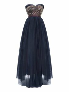 William Vintage - Jacques Heim 1955 Haute Couture Beaded Gown - Womens - Navy