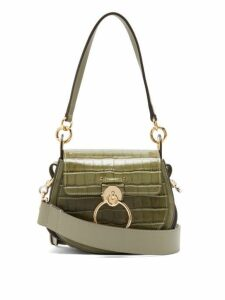 Chloé - Tess Small Crocodile Effect Leather Cross Body Bag - Womens - Khaki