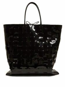 Bottega Veneta - Large Patent Leather Tote Bag - Womens - Black