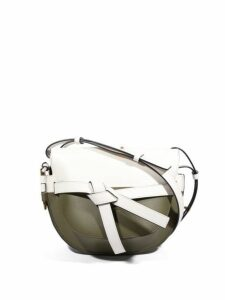 Loewe - Gate Mini Colour Block Leather Cross Body Bag - Womens - White Multi
