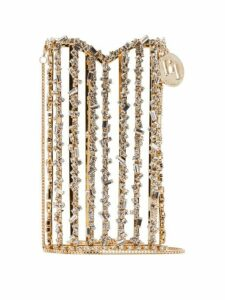 Rosantica By Michela Panero - Oasis Crystal Embellished Cross Body Phone Case - Womens - Gold Multi