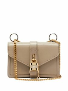 Chloé - Aby Leather Shoulder Bag - Womens - Grey