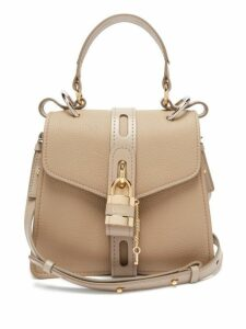 Chloé - Aby Small Leather Shoulder Bag - Womens - Grey
