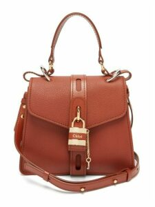 Chloé - Aby Small Leather Shoulder Bag - Womens - Dark Brown