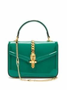 Gucci - Sylvie Small Patent Leather Shoulder Bag - Womens - Green