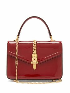Gucci - Sylvie Small Patent Leather Shoulder Bag - Womens - Burgundy