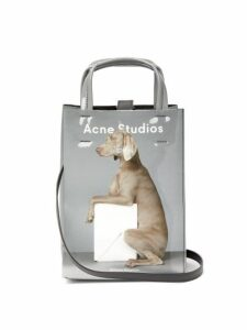 Acne Studios - X William Wegman Baker Small Dog Print Tote Bag - Womens - Grey Multi