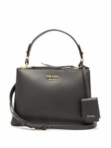 Prada - Deux Leather Handbag - Womens - Black