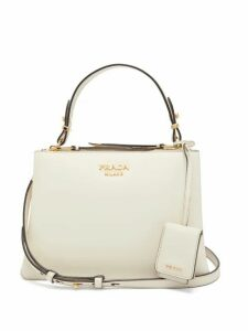 Prada - Deux Leather Handbag - Womens - White