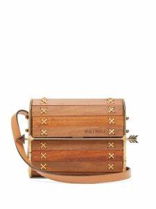Wai Wai - Seringueira Wood And Rattan Cross Body Bag - Womens - Brown