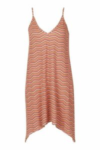 Womens Zigzag Swing Dress - orange - 8, Orange