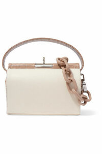 Gu de - Milky 2 Croc-effect And Smooth Leather Tote - Beige