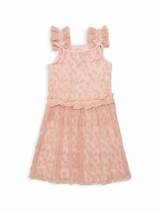 Little Girl's Flocked Mesh Dress