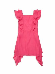 Girl's Ruffled Handkerchief Dress