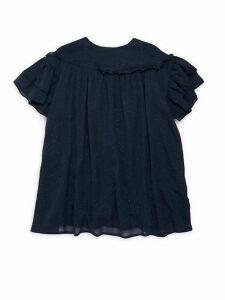 Little Girl's & Girl's Dot-Embroidered Dress