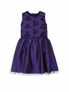 Little Girl's Embroidered Taffeta Dress