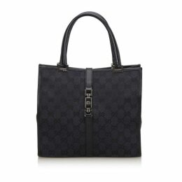 Gucci Black Gg Canvas Jackie Handbag