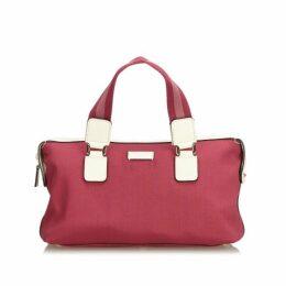 Gucci Pink Nylon Handbag