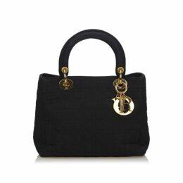 Dior Black Cannage Nylon Lady Dior Handbag