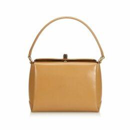 Gucci Brown Bamboo Leather Handbag