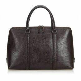 Gucci Brown Leather Boston Bag