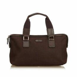 Gucci Brown Canvas Handbag