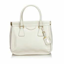 Prada White Leather Handbag
