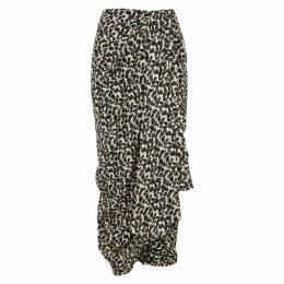 Isabel Marant Candelia Printed Lamé-weave Midi Skirt