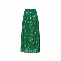 Kitri Kristi Floral Print Pleated Skirt