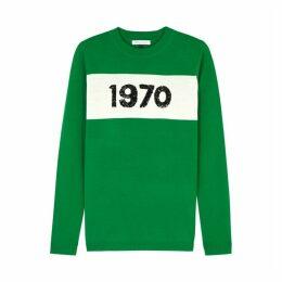 BELLA FREUD 1970 Green Wool Jumper