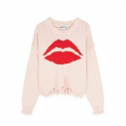 Wildfox First Kiss Luna Pink Cotton Jumper