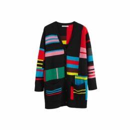Chinti & Parker Multicolour Eccentric Wool-cashmere Cardigan