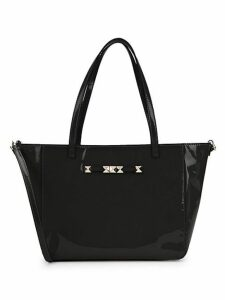 Rockstud Patent Leather Shoulder Bag