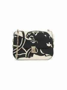 Graphic Leather Shoulder Bag