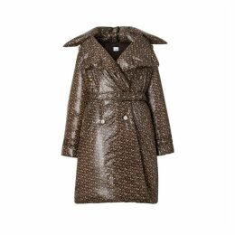 Burberry Monogram Print Nylon Down-filled Trench Coat