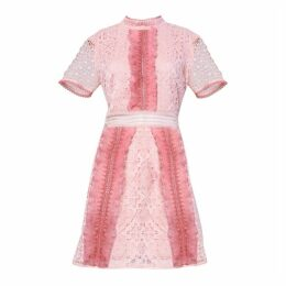 True Decadence True Decadence Blush Pink Two Tone Lace Mine Dress